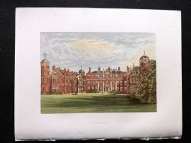 Morris Seats 1860's Antique Print. Cobham Hall